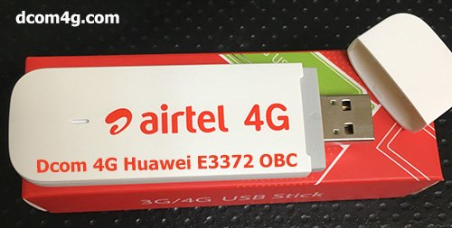 USB Dcom 4G Huawei E3372 OBC chính hãng giá rẻ,